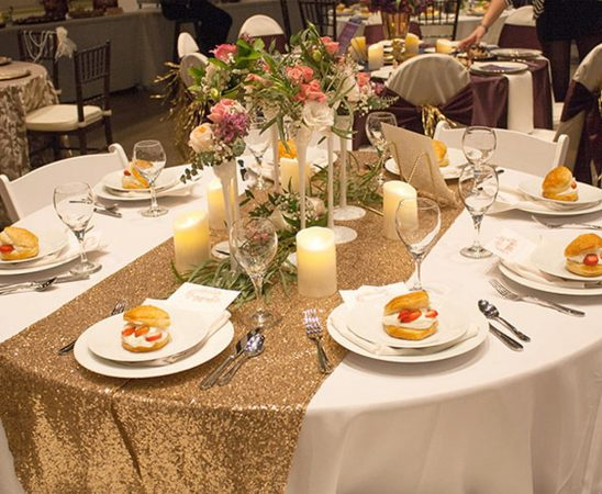 حفل زفاف باللون البرونزي