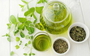 الشاي الأخضر للشعر