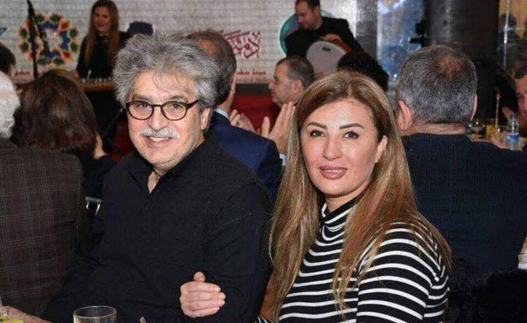 عباس النوري وزوجته