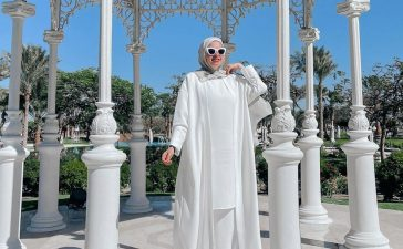 عبايات باللون الأبيض لعيد الأضحى المبارك