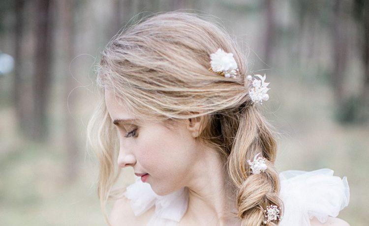 أحدث تسريحات شعر العروس باعتماد الجدائل