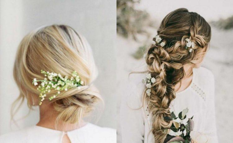 تسريحات شعر العروس على شكل جدائل