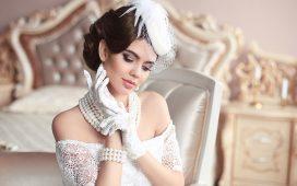 لعروس الموسم قبعات فرنسية كلاسيكية وعصرية للعروس
